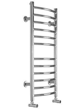Midi Slim Curve Electric Towel Radiator 360 x 810mm - SS206E
