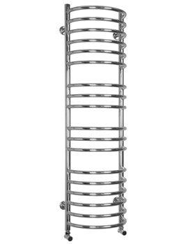 SBH Maxi Half Moon Dual Fuel Towel Radiator 360 x 1300mm - SS103