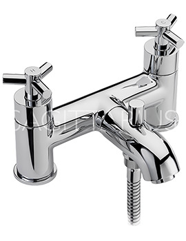 Related Sagittarius Zone Deck Mounted Bath Shower Mixer Tap And Kit