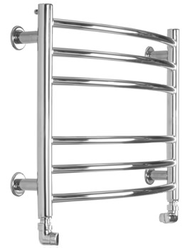 Baby Curve Electric Towel Radiator 600 x 440mm - SS302E