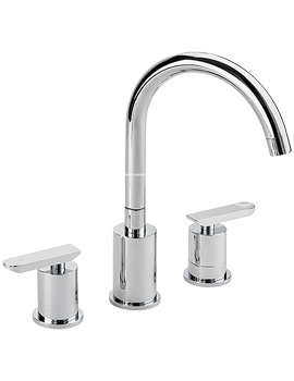 Related Sagittarius Eclipse 3 Hole Deck Mounted Basin Mixer Tap With Sprung Waste