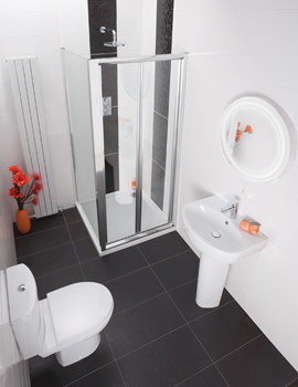 Balterley Piccolo Bathroom Suite With Bi-Fold Shower Enclosure