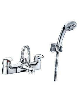Related Sagittarius Prestige Twin Lever Bath Shower Mixer Tap And Kit