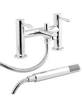 Prise Deck Mounted Bath Shower Mixer Tap Chrome - FJ314