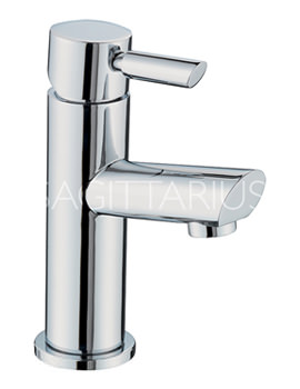 Sagittarius Rocco Cloakroom Basin Mixer Tap With Sprung Waste