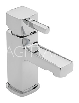 Sagittarius Axis Monobloc Basin Mixer Tap With Sprung Waste