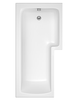 Beo Square Left Or Right Hand Shower Bath 1700 x 850mm