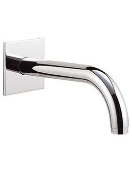 180mm Wall Mounted Spout With Square Plate