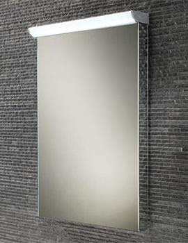 HIB Sonic Steam Free Mirror With LED Top Illumination 500 x 735mm