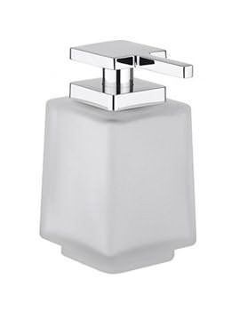 Wisp Frosted Glass Soap Dispenser - WP-DISP