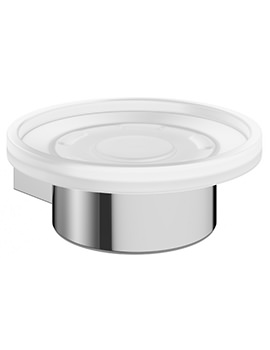 Mpro Glass Soap Dish And Chrome Holder - PRO005C