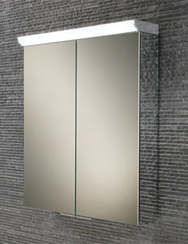 HIB Flare Double Door LED Top Illuminated 600 x 700mm