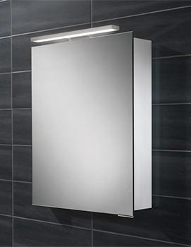 Proton Single Door LED Overlight Mirror Cabinet 500 x 700-730mm