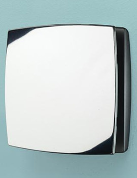 Breeze Wall Mounted Chrome Extractor Fan With Timer - 32800