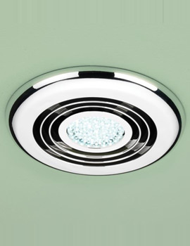 Cyclone Wet Room Inline Illuminated Chrome Extractor Fan