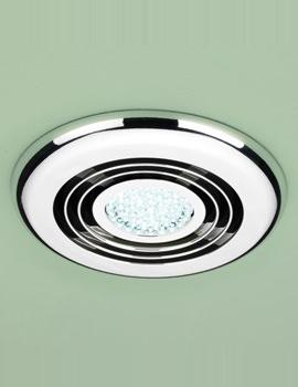 Turbo Bathroom Inline Illuminated Chrome Extractor Fan- 32300