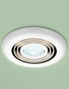 Cyclone Wet Room Inline Illuminated White Extractor Fan