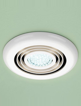 Turbo Bathroom Inline Illuminated White Extractor Fan - 32200