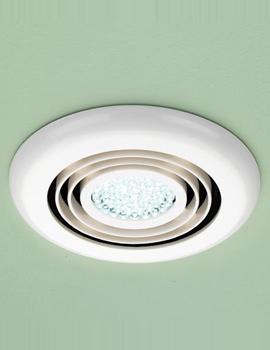 Turbo Bathroom Inline Illuminated White Extractor Fan - 32200