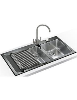 Related Franke Kubus Designer Pack KBV 651 Black Glass Inset Sink And Tap