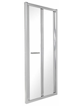 Related Twyford ES400 Bi-Fold Shower Enclosure Door 760mm - ES43200CP