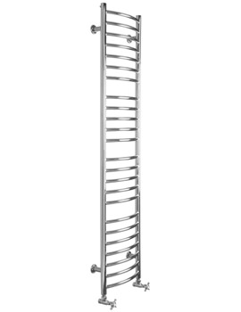 Mega Slim Curve Dual Fuel Towel Radiator 360 x 1600mm - SS406