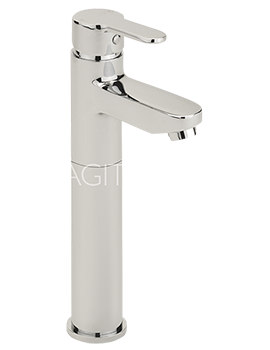Sagittarius Plaza Extended Monobloc Basin Mixer Tap With Sprung Waste