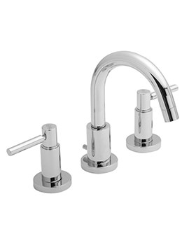 Hudson Reed Tec Lever 3 Tap Hole Basin Mixer Tap - TEL337