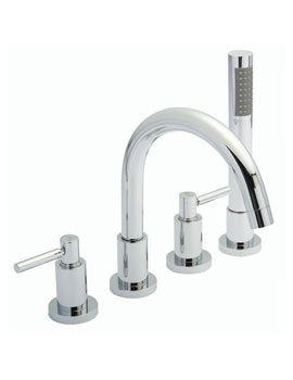 Tec Lever 4 Tap Hole Bath Mixer With Small Spout - TEL334