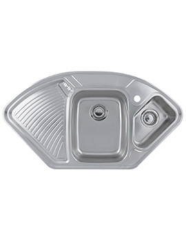 Related Astracast Lausanne 1.5 Bowl Polished Stainless Steel Corner Inset Sink
