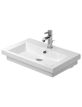 Related Duravit 2nd Floor Single Tap Hole Ground Washbasin 600mm - 0491600027