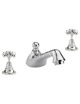 Related Sagittarius Butler 3 Hole Deck Mounted Basin Mixer Tap With Waste