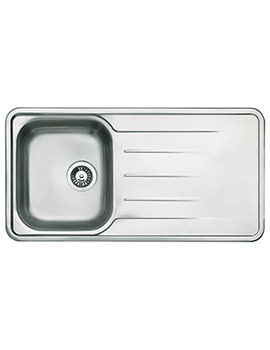 Topaz 1.0 Bowl Polished Stainless Steel Inset Sink