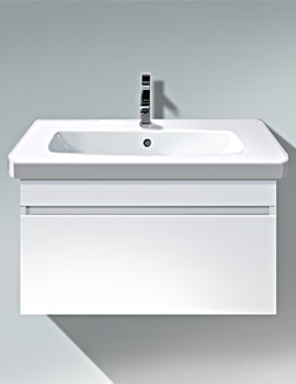Duravit DuraStyle 730mm White Matt Wall Mounted Vanity Unit With Basin