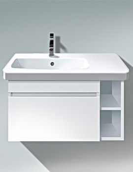 Duravit DuraStyle 730mm White Matt Vanity Unit Basin At Left