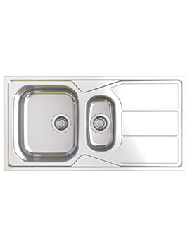 Elan 1.5 Bowl Polished Stainless Steel Inset Sink