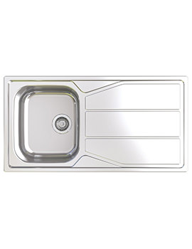 Elan 1.0 Bowl Polished Stainless Steel Inset Sink