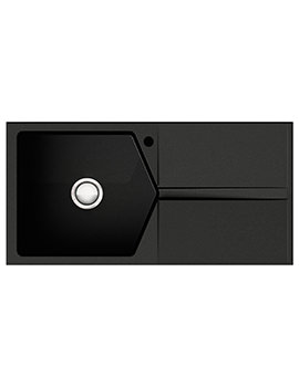 Razor 1.0 Bowl Composite ROK Metallic Volcano Black Inset Sink