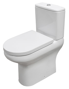 RAK Compact Deluxe Rimless Full Access Open Back Close Coupled WC Pack 625mm