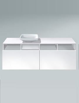 DuraStyle 1400mm 2 Pull Out Compartment Unit - DS6785L1818