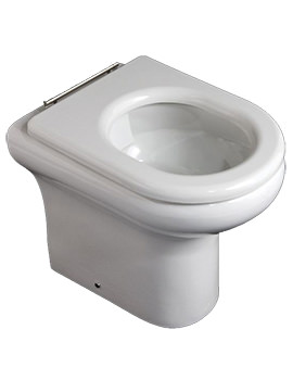 Compact Special Needs Rimless 450mm High Back-To-Wall WC Pan