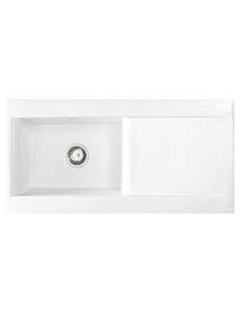 Astracast Liscio 1.0 Bowl Gloss White Ceramic Inset Kitchen Sink