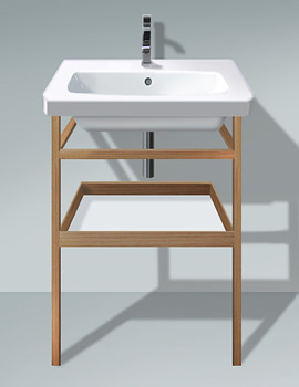 Related Duravit DuraStyle 650mm Basin With Towel Rail And Shelf