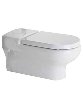 Compact Extended Rimless Wall Hung WC Pan 700mm - COMRIMWHPAN