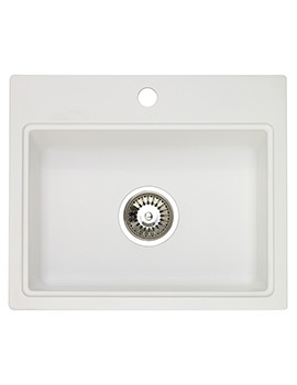 Astracast Monza 1.0 Bowl Composite ROK Granite Opal White Inset Sink