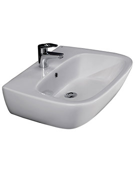 Elena 500mm 1 Tap Hole Wash Basin - ELEN50BAS1