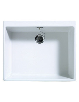 Sudbury 1.0 Bowl Ceramic Gloss White Sit-In Kitchen Sink