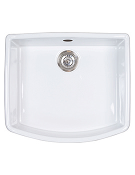 Astracast Edinburgh 1.0 Bowl Ceramic Gloss White Finish Sit-In Sink