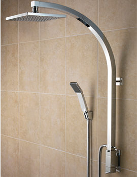 Inline Vertical Shower Pole With Integral Diverter - QU VSHXSPDIV C