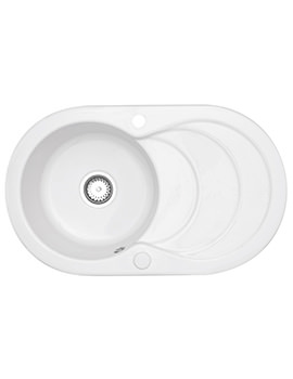 Related Astracast Cascade 1.0 Bowl Ceramic Inset Kitchen Sink